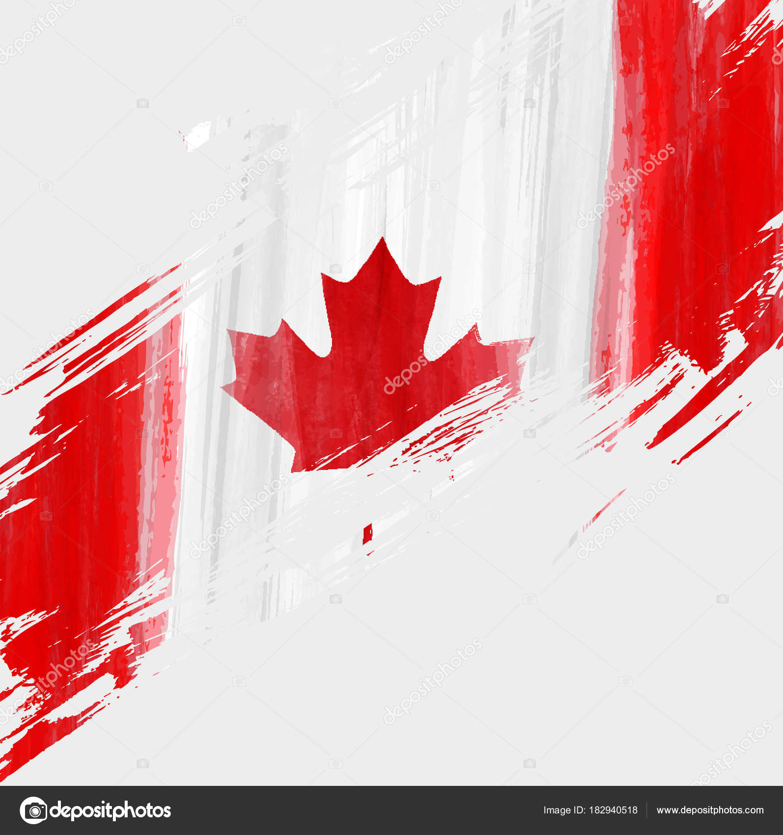 Fondo de Grunge Canadá bandera — Vector de stock © artlana #182940518