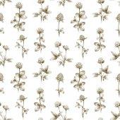 Rajzok a lóhere virágok. Varrat nélküli mintát