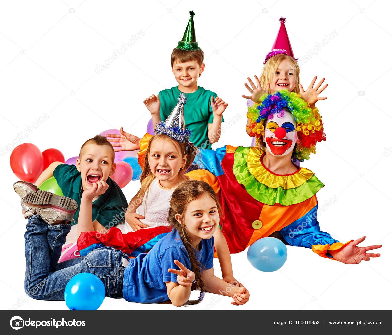 Palhaço De Aniversário Criança Brincando Com As Crianças