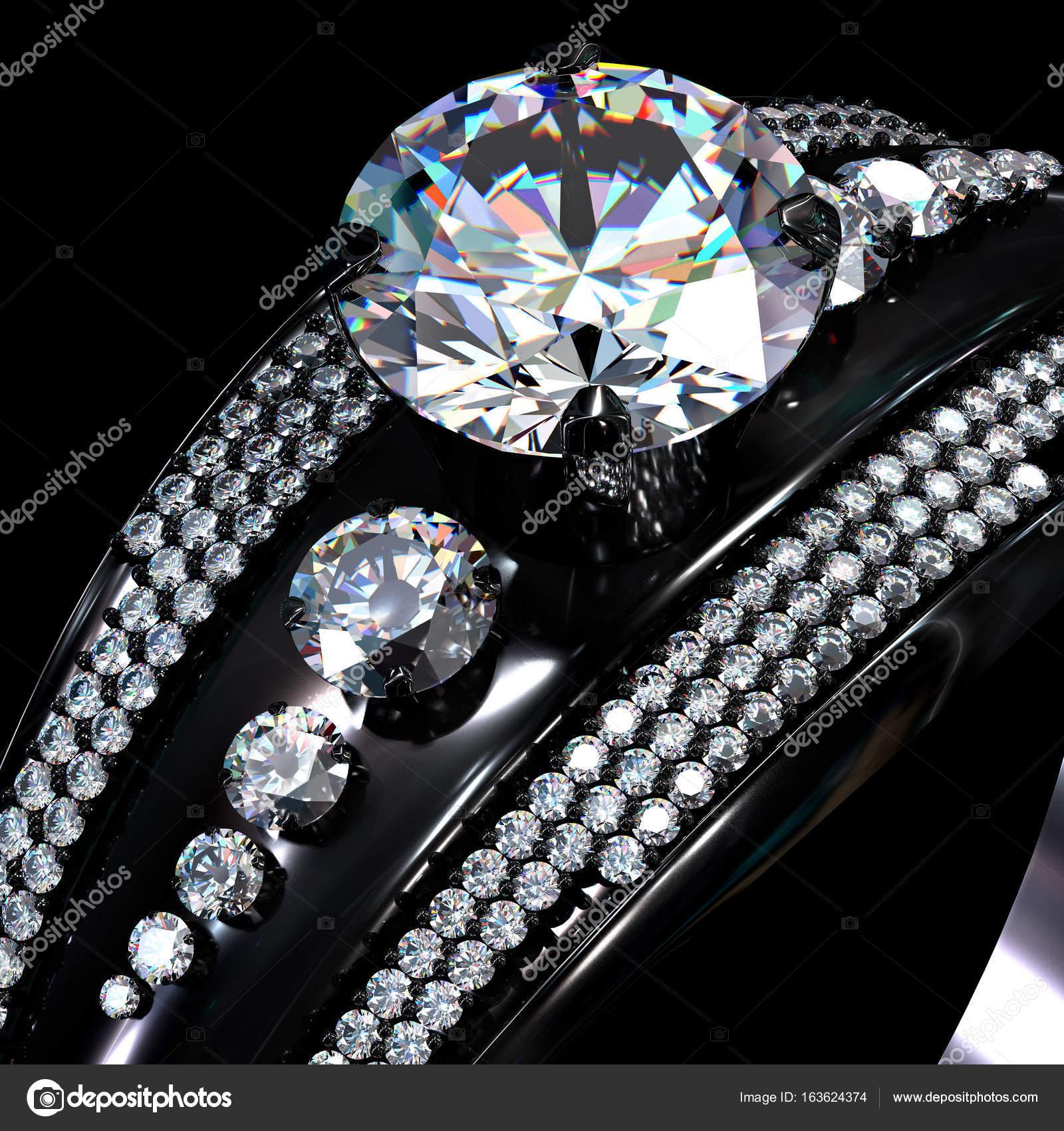 Lyxiga gyllene smycken crystal bijouterier med rodium eller rutenium  beläggning med ädelsten — Foto av poznyakov 35d15c893e1ac