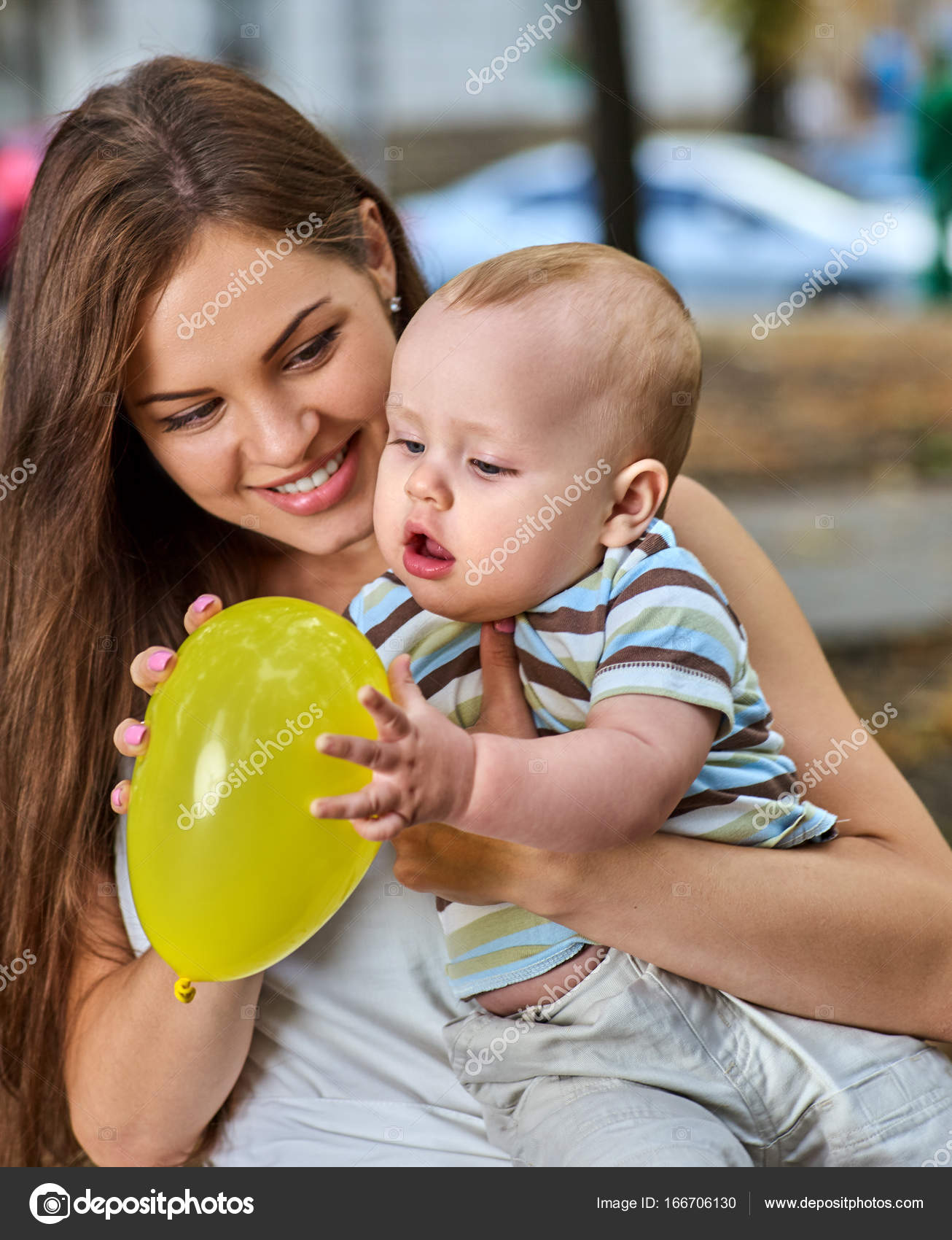 First Birthday Ideas Happy Mother And Her Baby Boy Outdoors