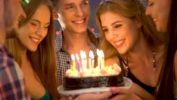 Boldog meg születésnapi party gyertya ünnepi sütemények
