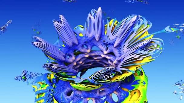 3D fraktál pro děti. Květinové duhové pozadí abstraktní květiny pro dítě