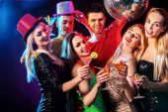 Fotografie Dance-Party mit Gruppe Menschen tanzen und disco-Kugel