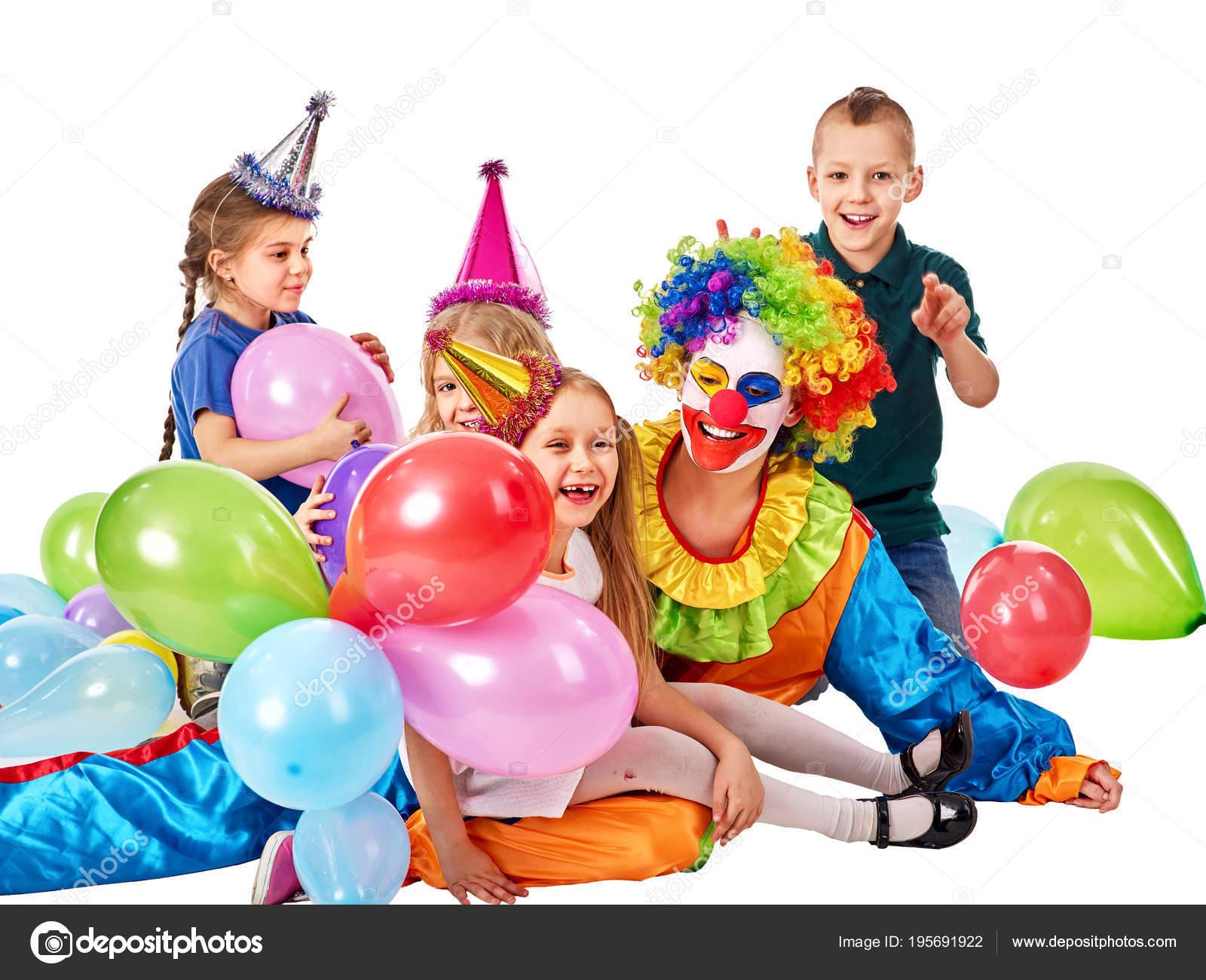 Verjaardag Kind Clown Spelen Met Kinderen Kind Vakantie Taarten
