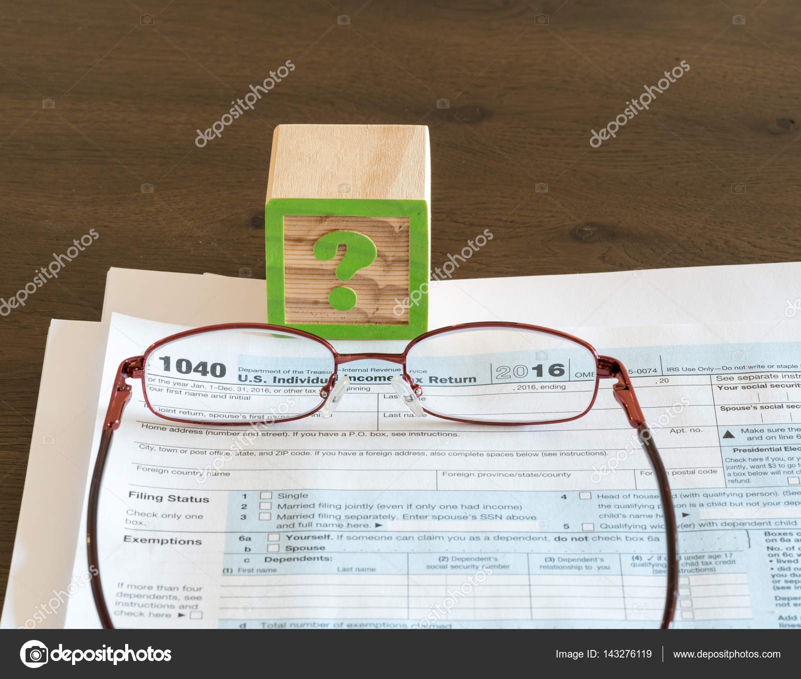 Tax Preparation Problems For Irs Form Stock Photo Steveheap