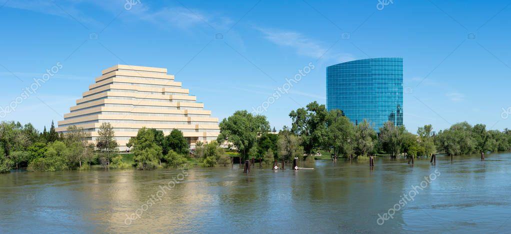CALtrs and Ziggurat buildings in Sacramento California