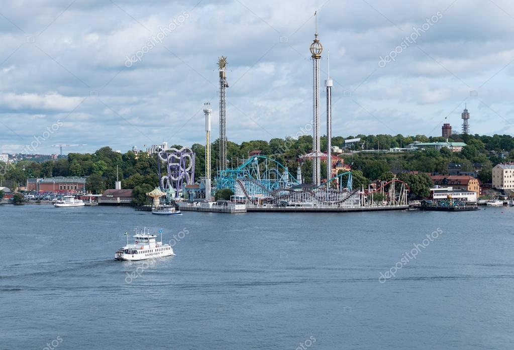 Grona Lund amusement park in Stockholm