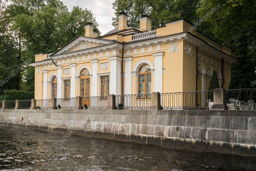 Tea House in Summer garden in St Petersburg, Russia