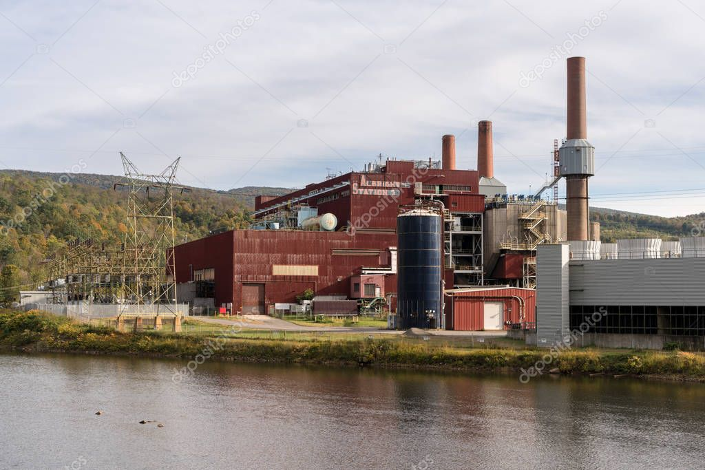 Shuttered Albright coal powered power station