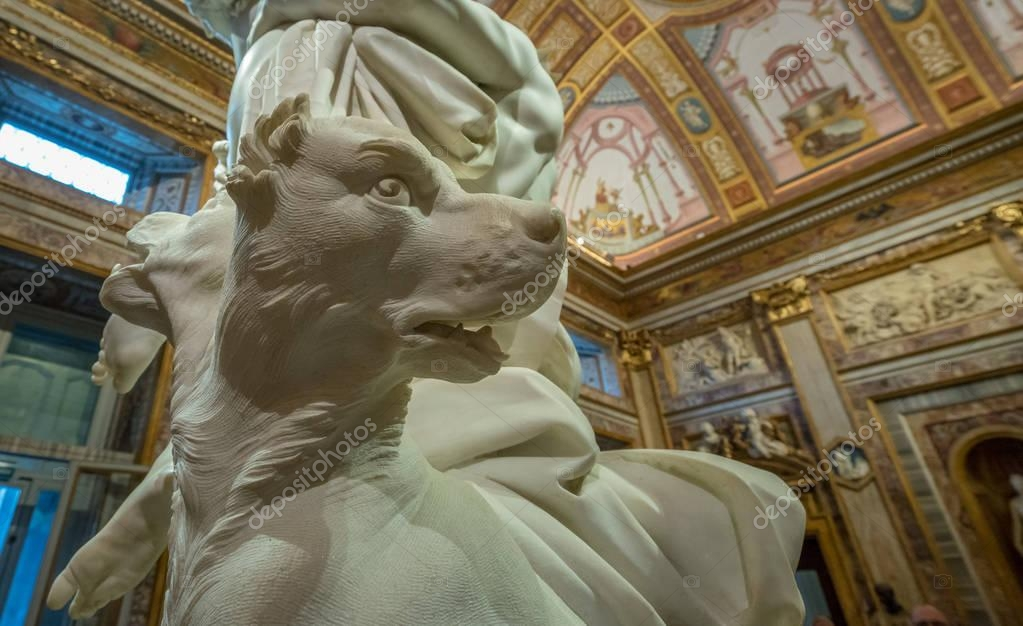 Rape of Proserpina sculpture in the Galleria Borghese