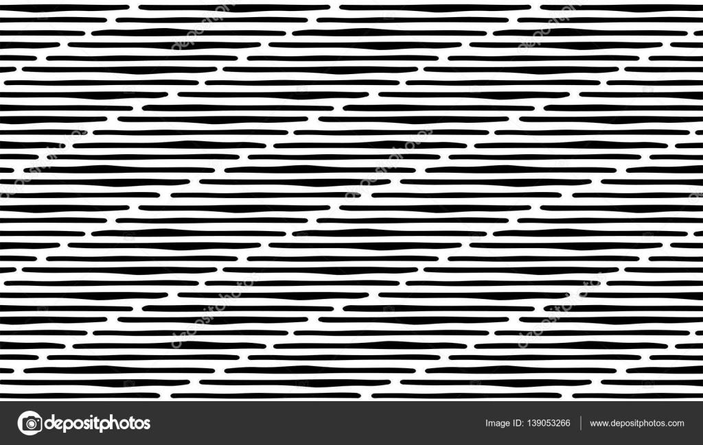 abstract hand draw seamless patterns with lines black stripes on white background vector by valent_ru