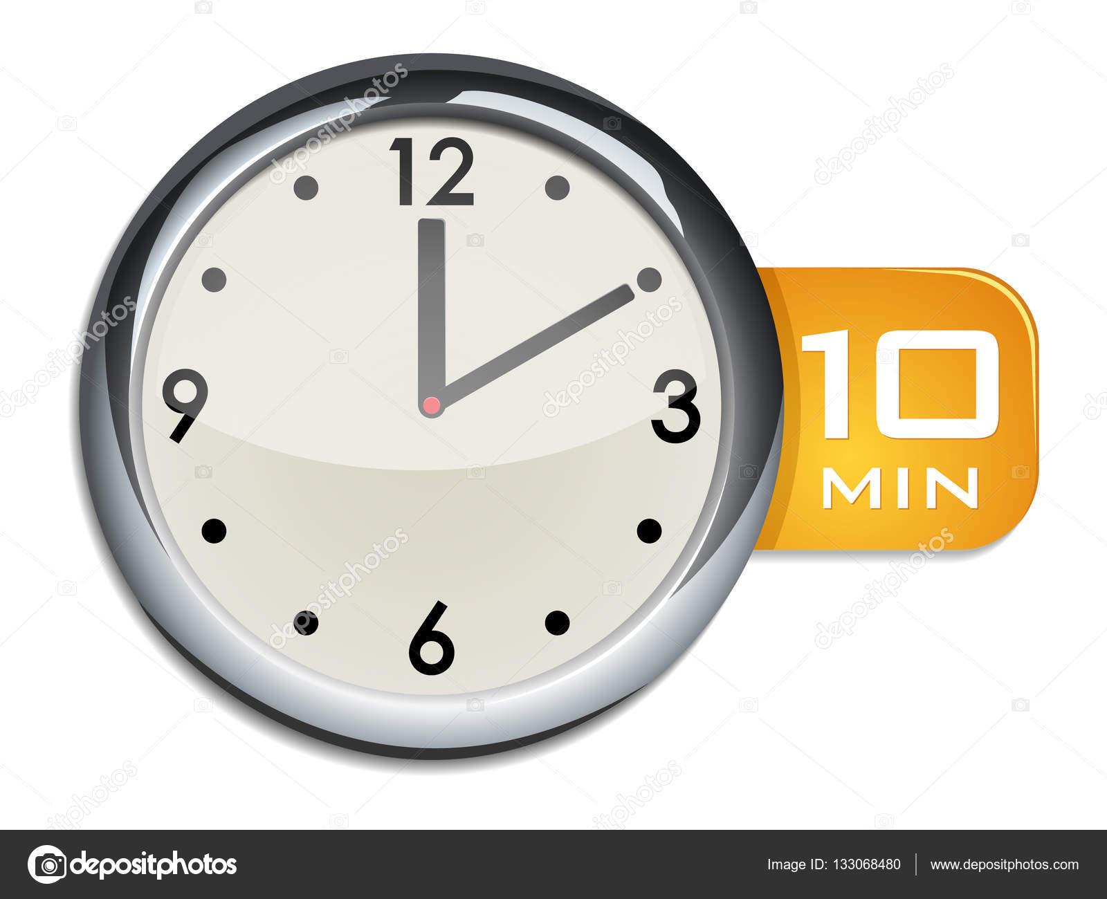 office wall clock timer 10 minutes stock vector ayax55 133068480