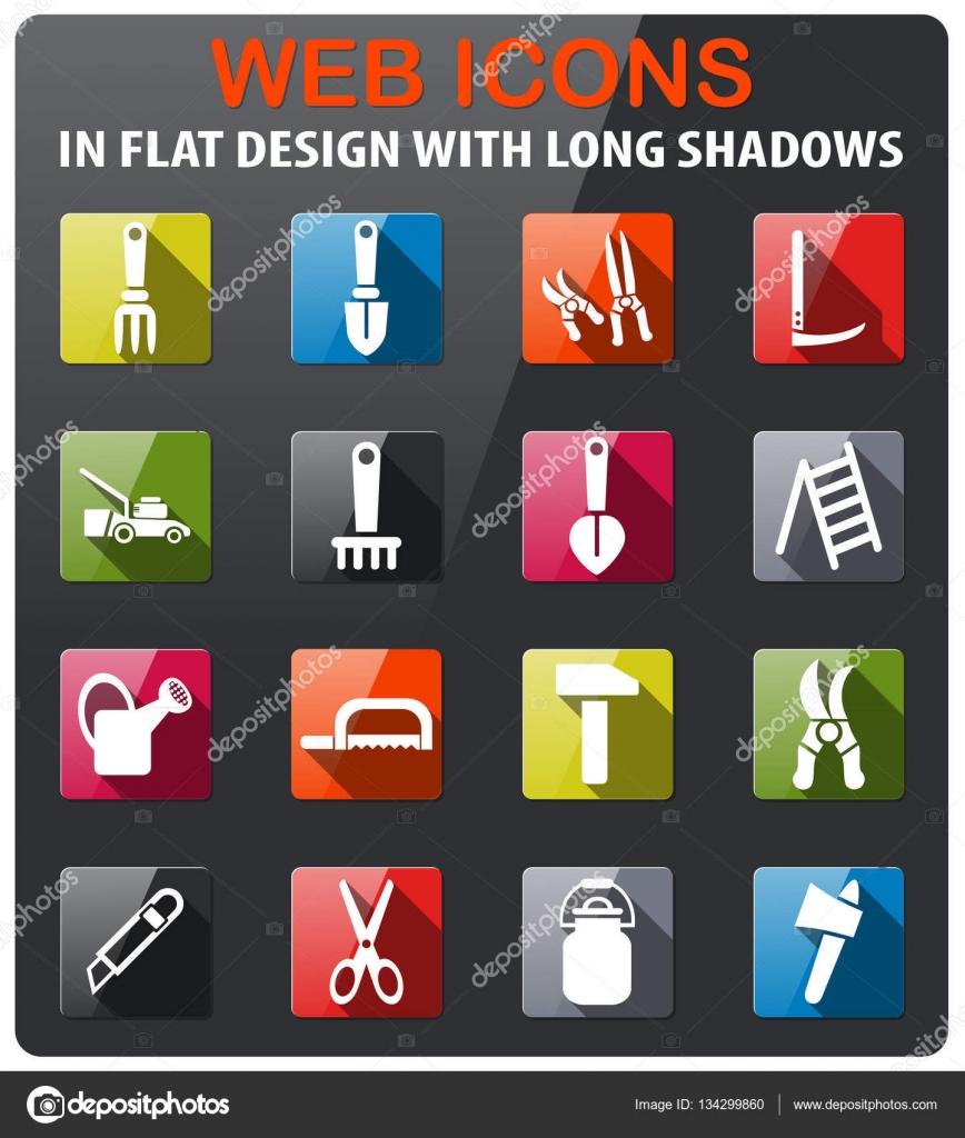outils de jardin jeu d\'icônes — Image vectorielle ayax55 © #134299860