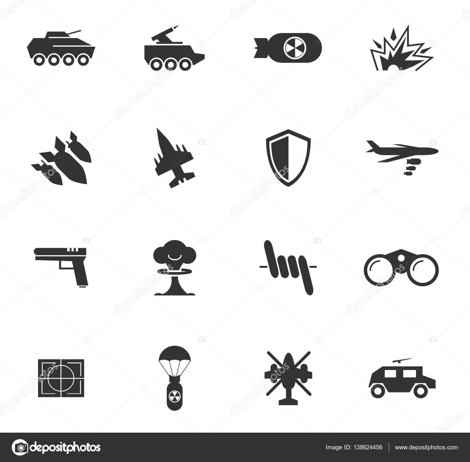 War symbols icon set stock vector ayax55 138624456 war symbols vector icons for user interface design vector by ayax55 biocorpaavc Images