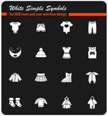 Fényképek Baba ruhák ikon készlet