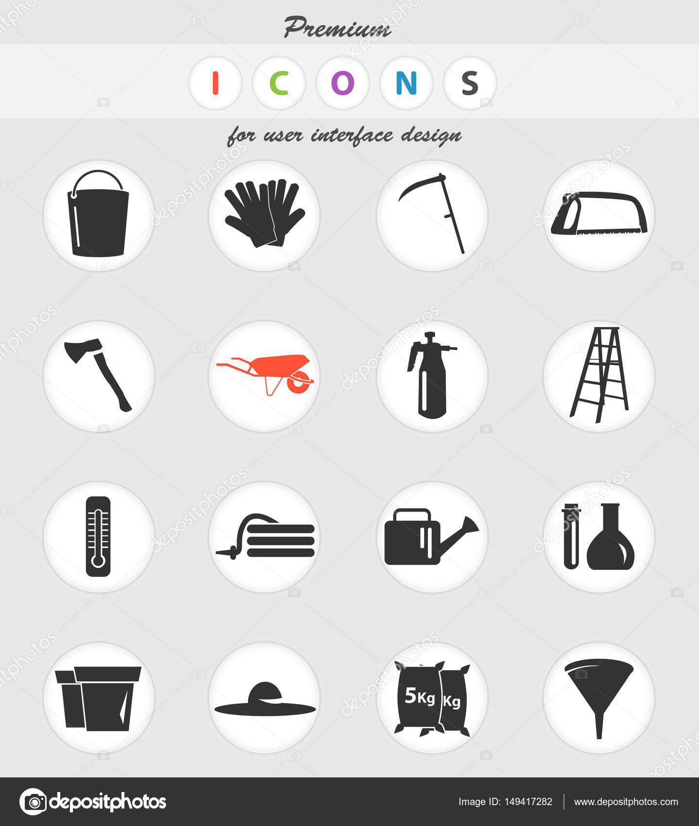 outils de jardin jeu d\'icônes — Image vectorielle ayax55 © #149417282