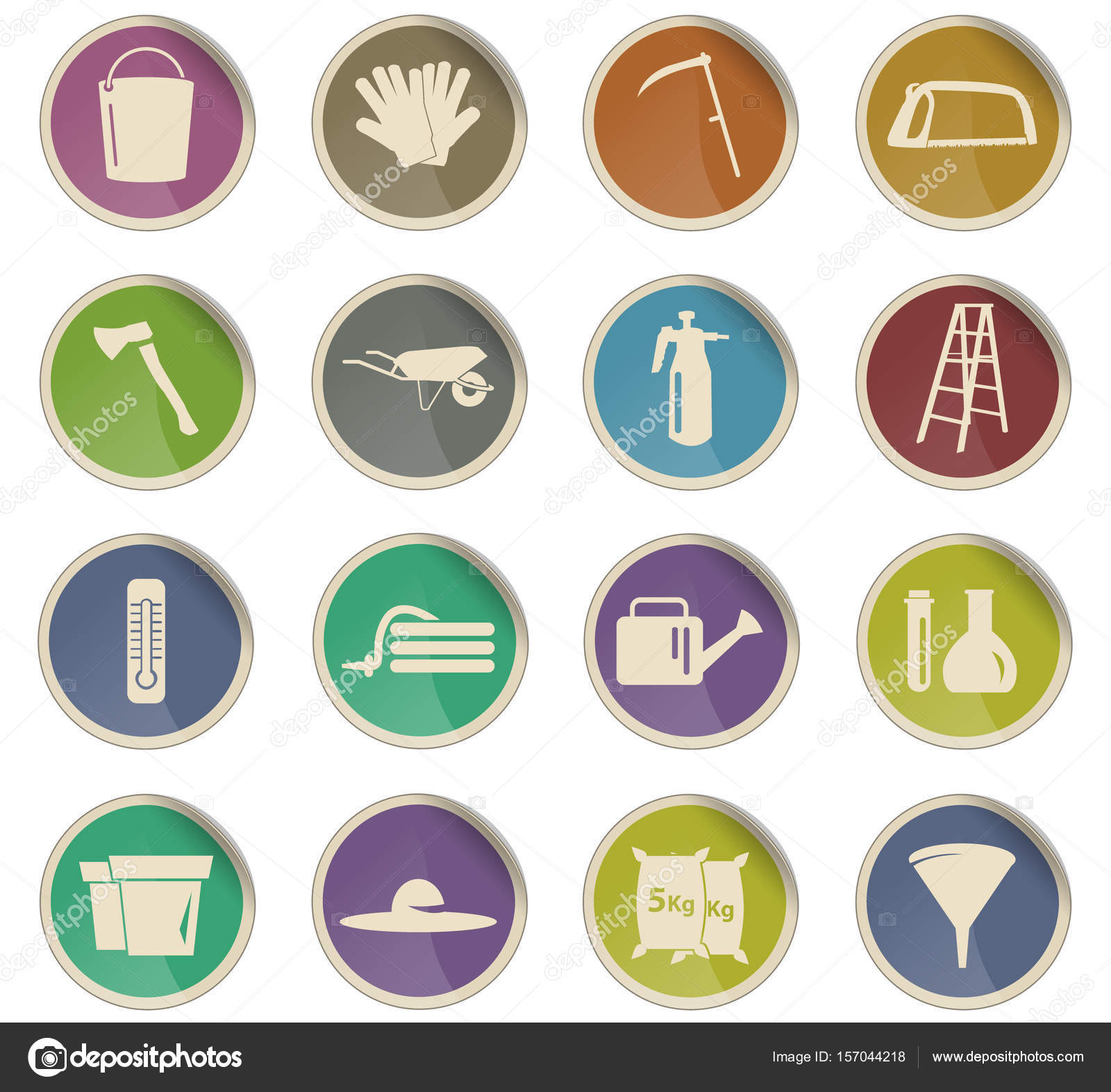 outils de jardin jeu d\'icônes — Image vectorielle ayax55 © #157044218