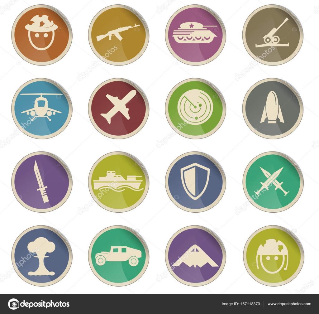 War Symbols Icon Set Stock Vector Ayax55 157118370