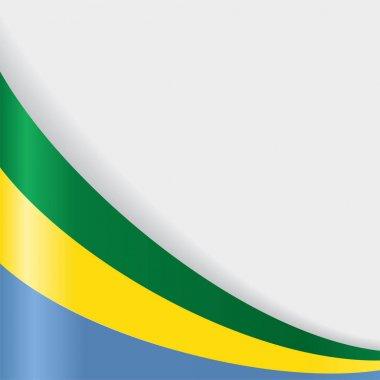 Gabon flag background. Vector illustration.