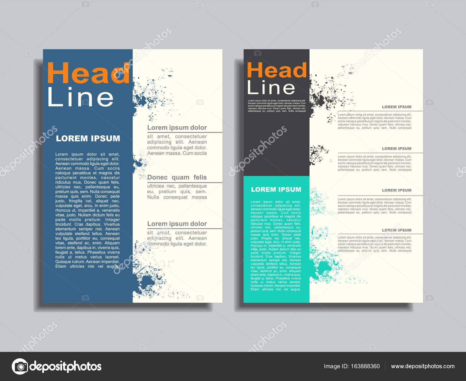 Flyer Berichten Broschüre Cover Buch Portfolio Design-Vorlage ...