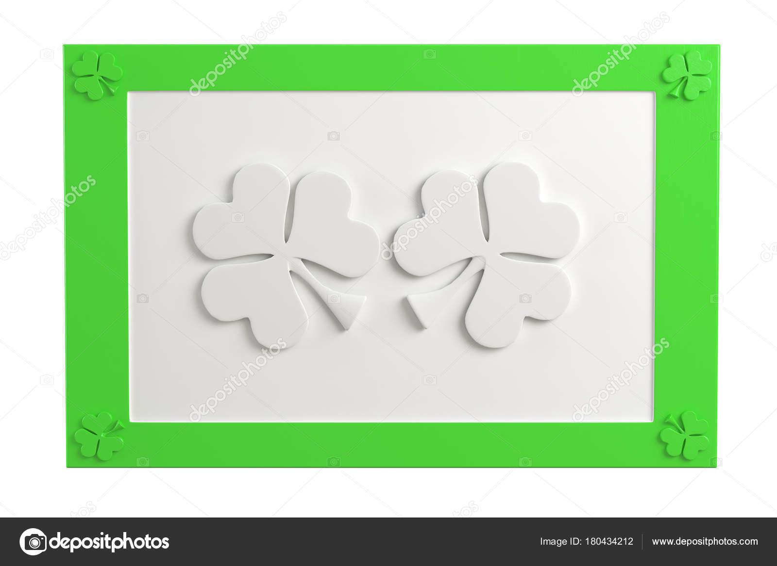 Marco con dos tres hoja de trébol — Foto de stock © AndKud #180434212