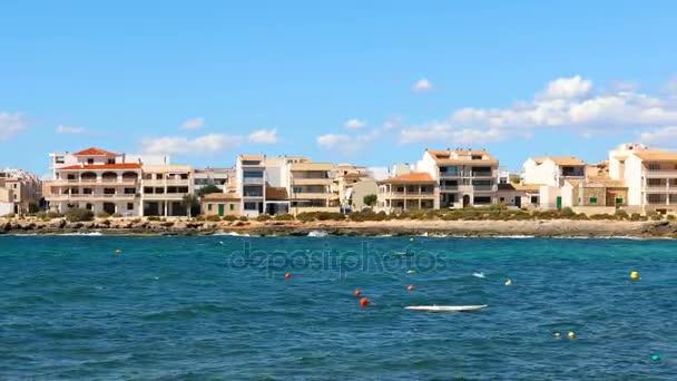 Domy na přímořské město v Mallorca, panoramatický pohled