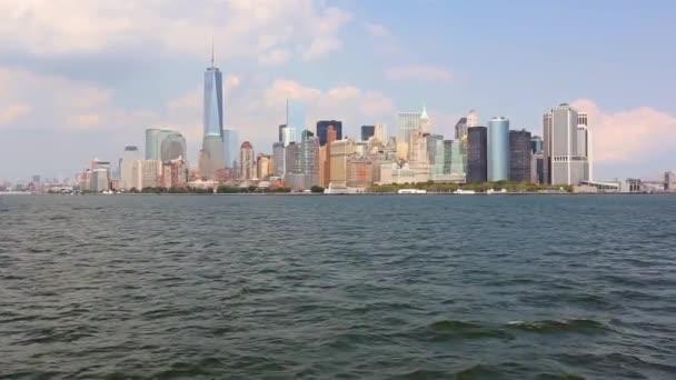Newyorské centrum, pohled mrakodrapů v dolním Manhattanu