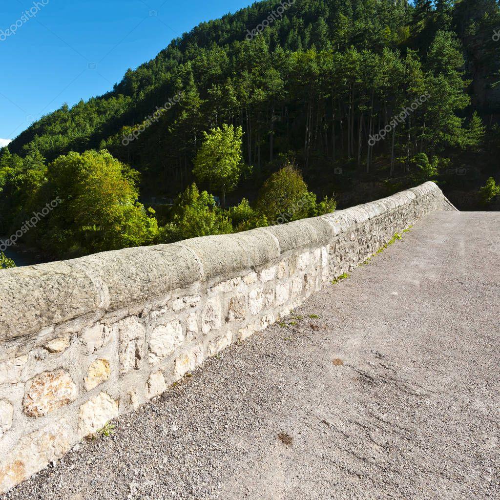 Mountain road in southeastern France.