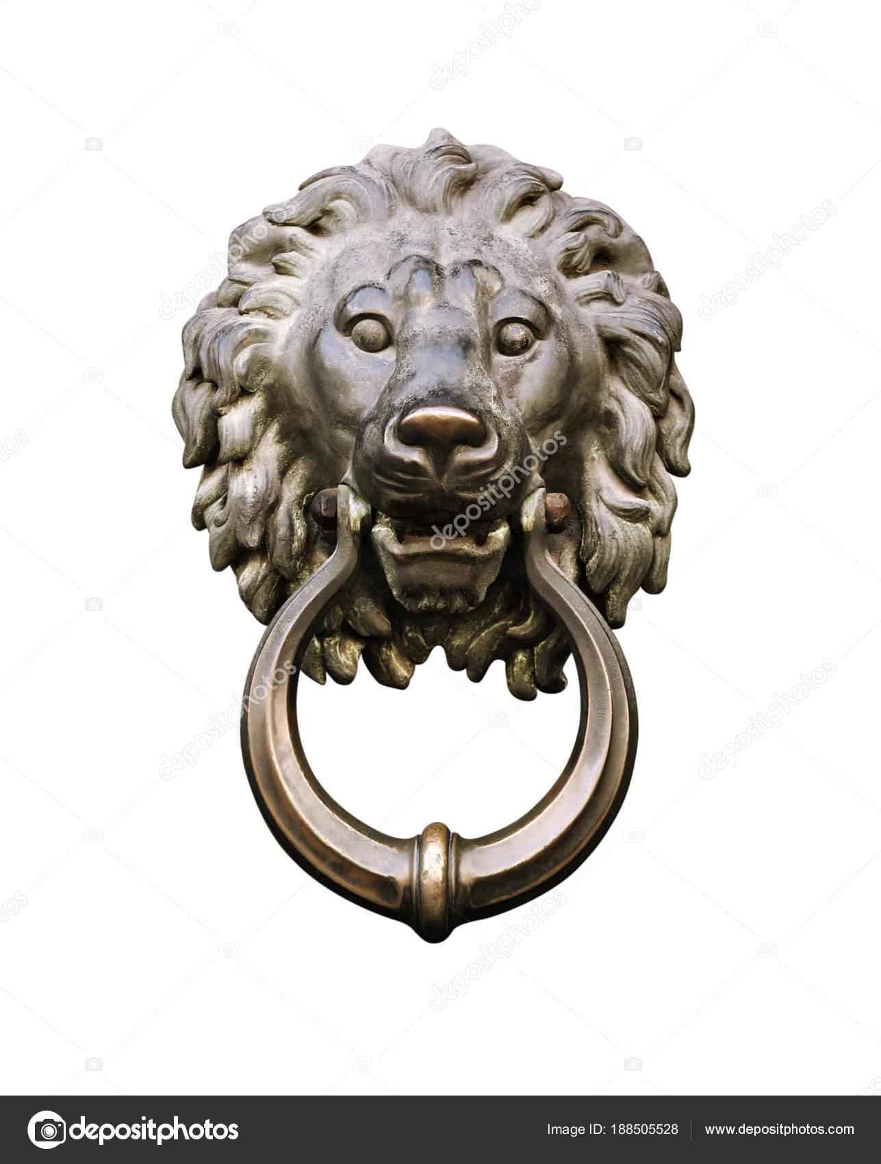 Lion Head Door Knocker U2014 Stock Photo