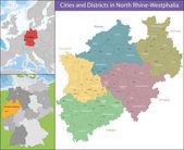 Fotografie karte von nordrhein-westfalen