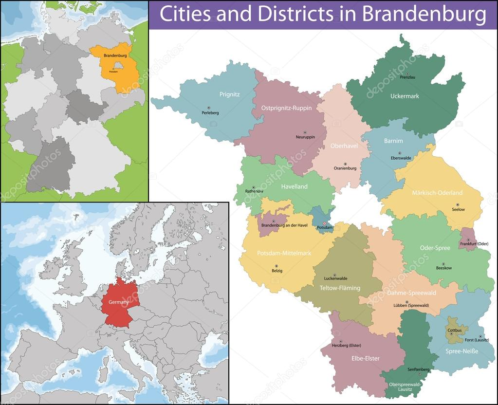 brandenburg is one of the sixteen federated states of germany vector by volina