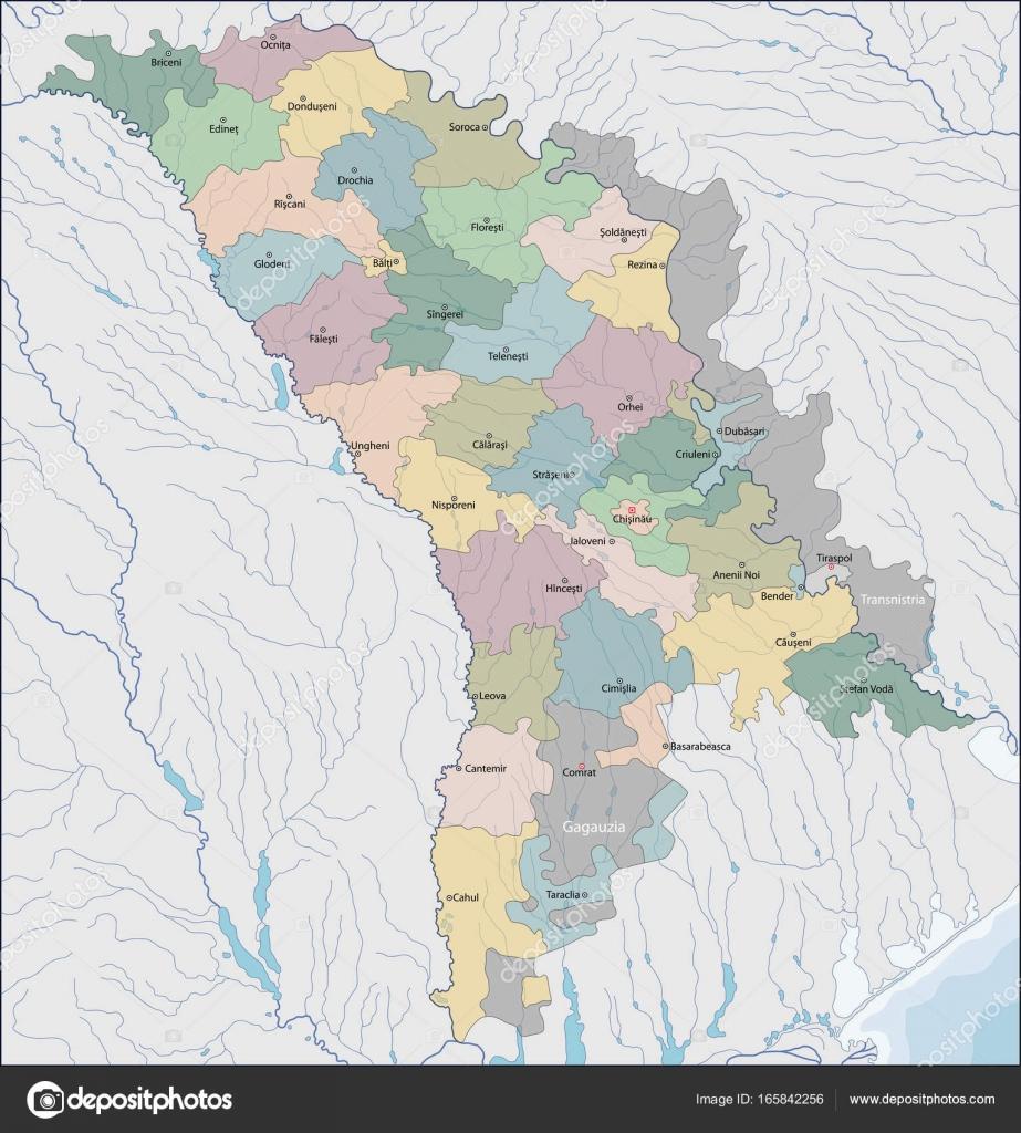 Map of Moldova Stock Vector Volina 165842256