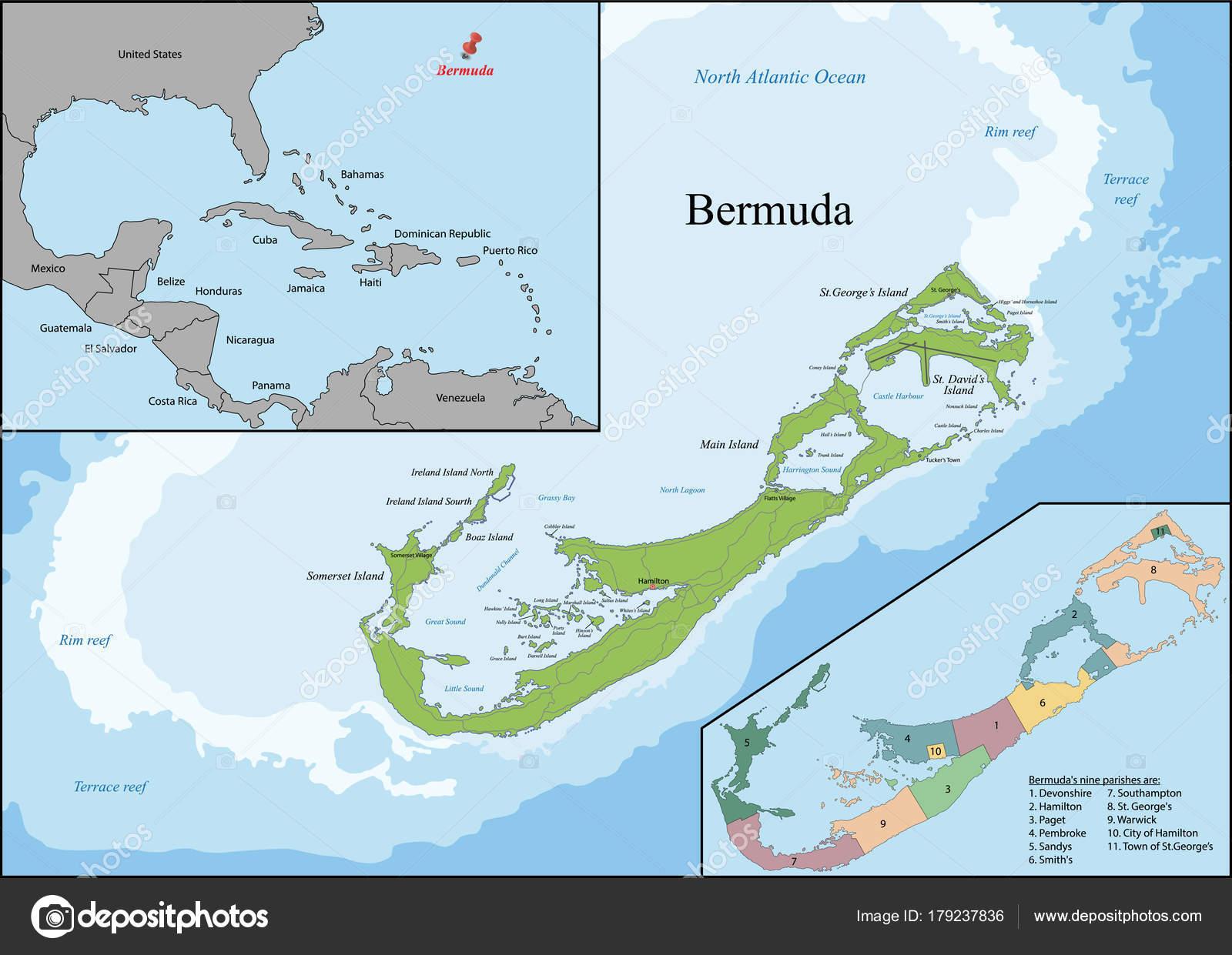 Karte von bermuda — Stockvr © Volina #179237836 on
