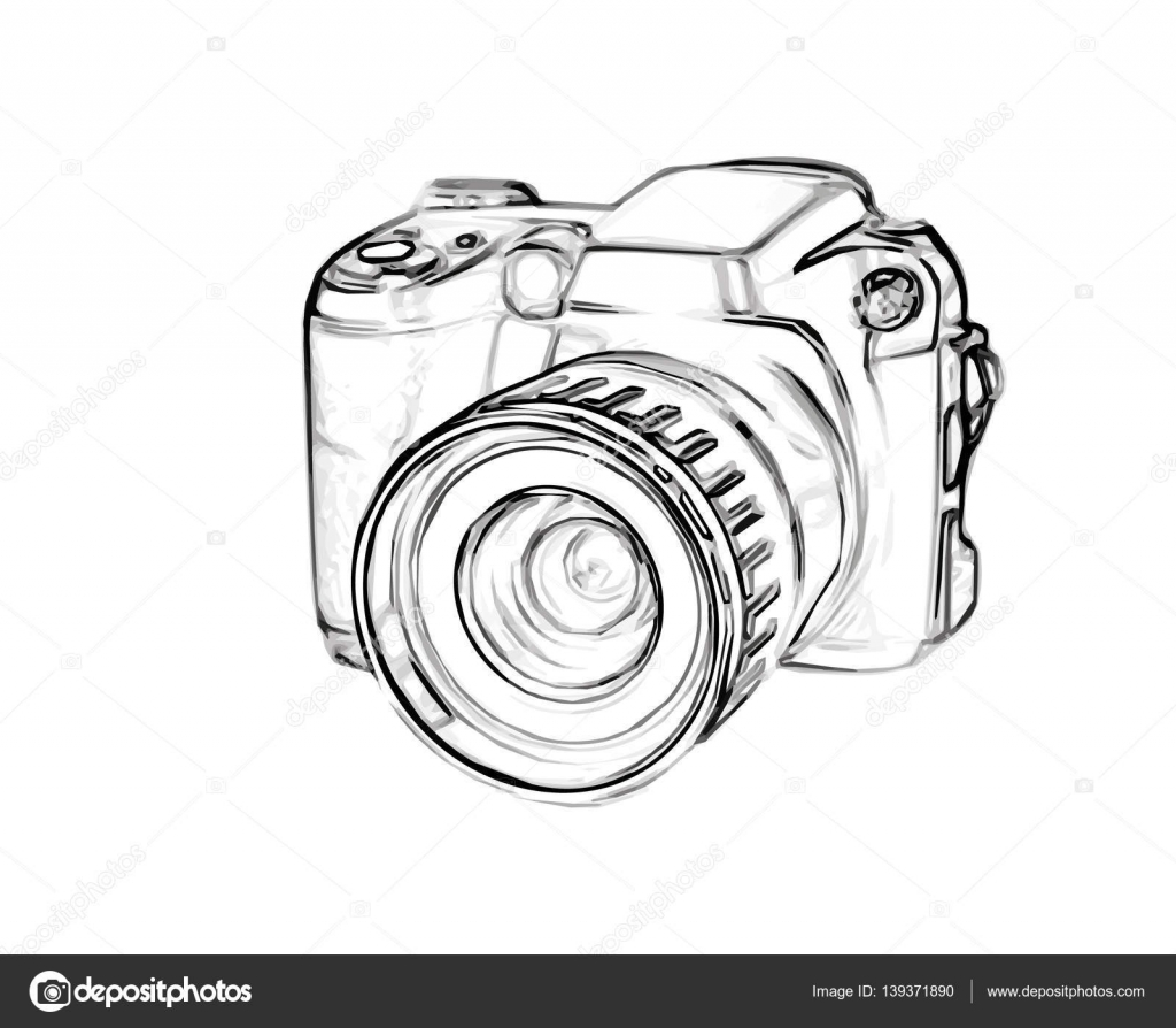 rysunek cyfrowy aparat fotograficzny grafika wektorowa zeffss 139371890. Black Bedroom Furniture Sets. Home Design Ideas