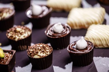 Delicious chocolate sweets