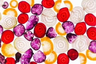 color sliced vegetables