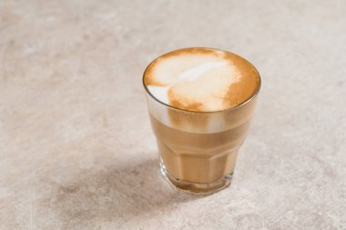 glass cup of cappuccino