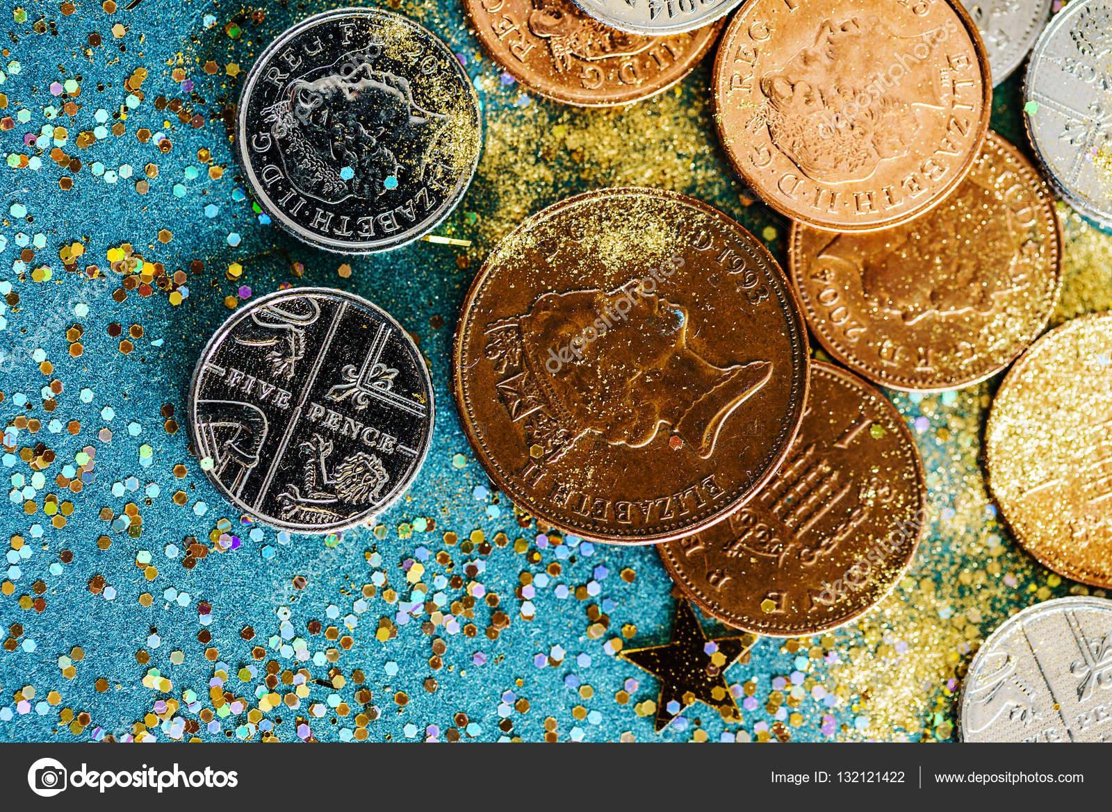 Verschiedene Englische Münzen Stockfoto Shebeko 132121422