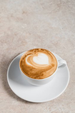 cup of cappuccino with foam