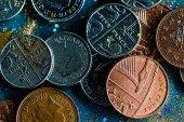 Různé anglické mince