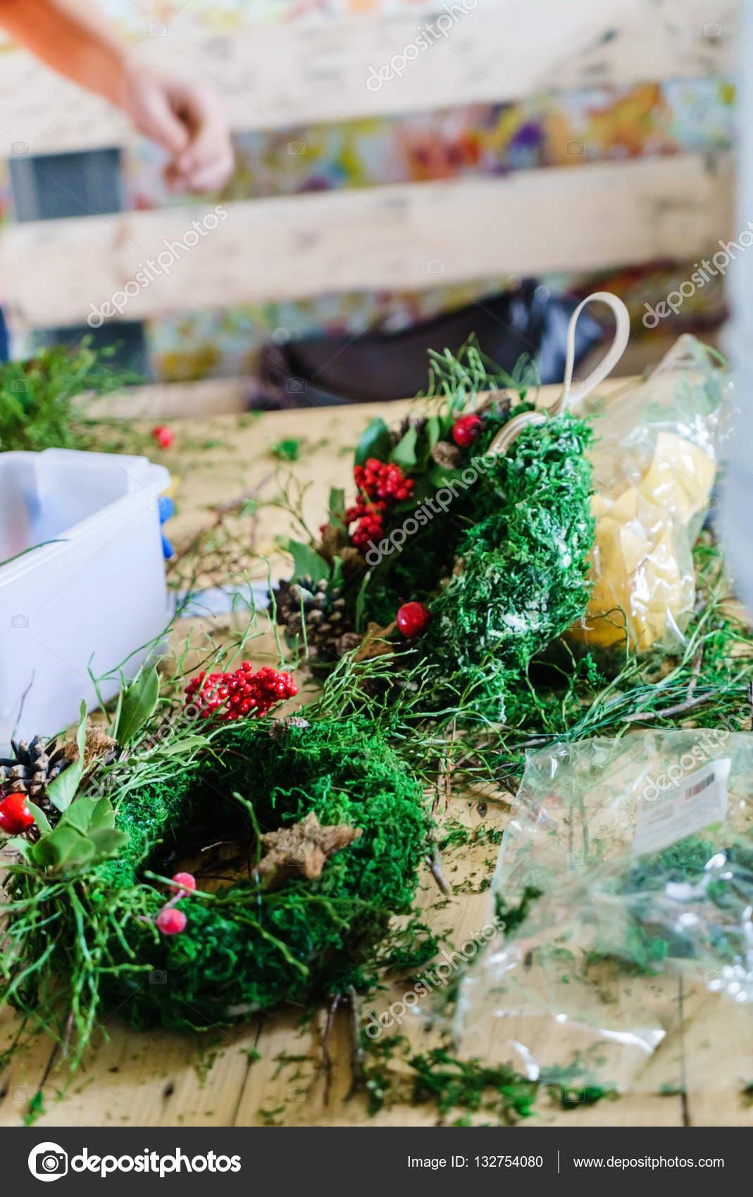 Türkranz Weihnachten.Türkranz Weihnachten Stockfoto Shebeko 132754080