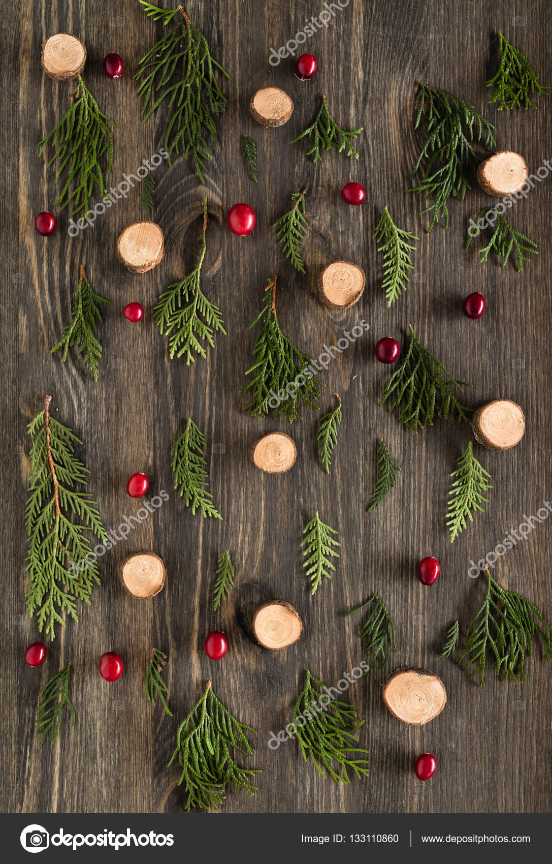 Rustic Christmas Background Stock Photo