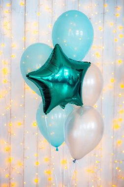 holiday turquoise balloons