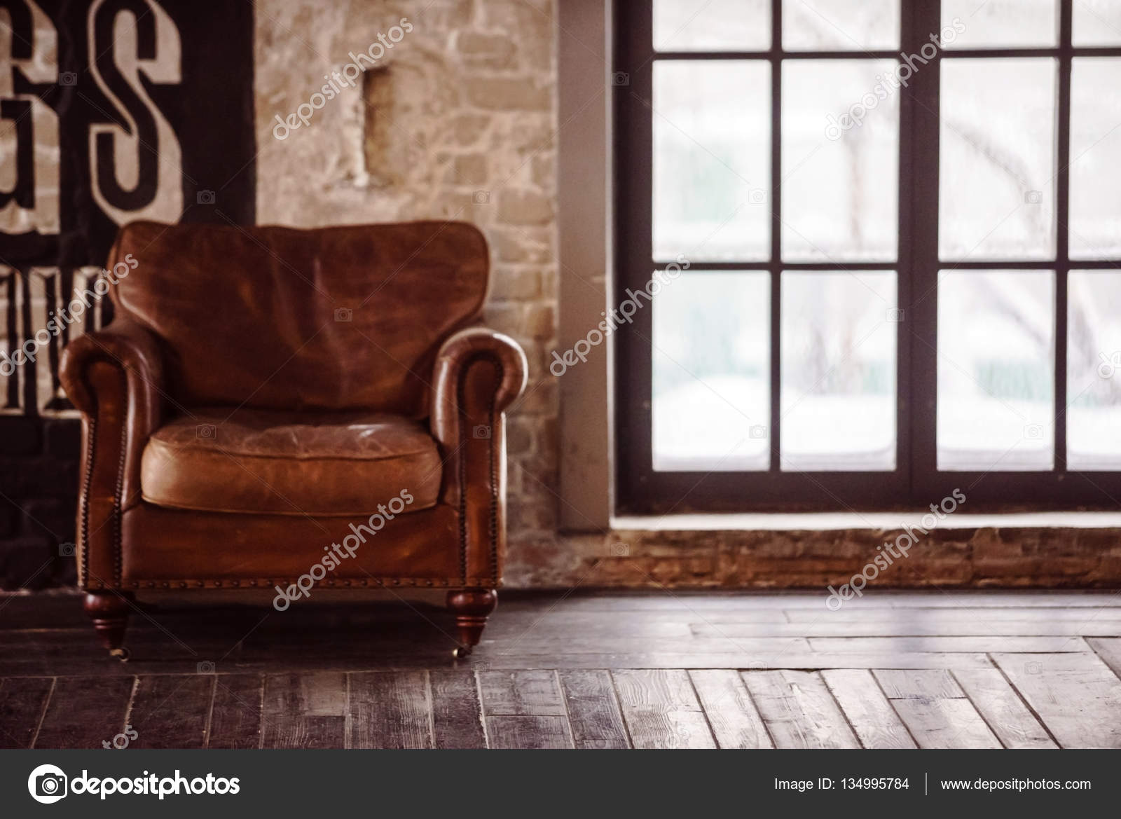 Old Leather Chair U2014 Stock Photo
