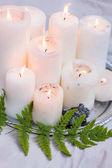 svatební dekorace, svíčky