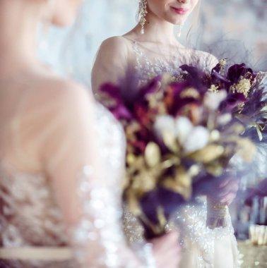 Majestic bride in luxury dress