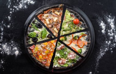 Delicious creative pizza