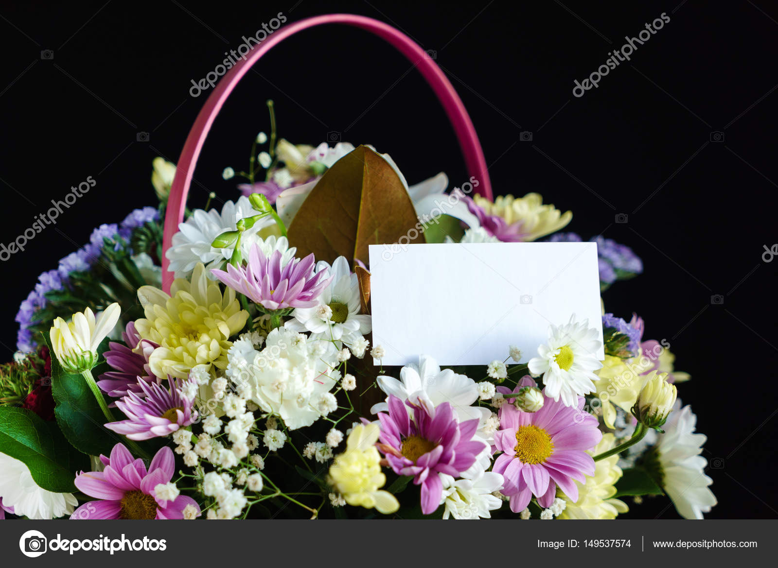 Beautiful Flowers In The Basket Stock Photo Shebeko 149537574