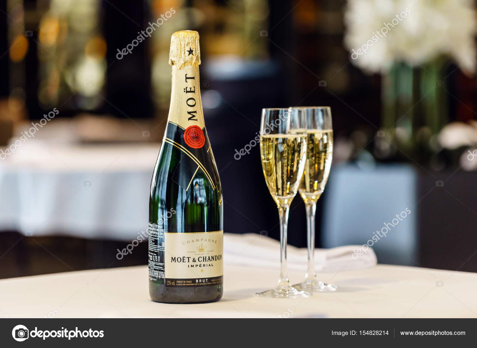 Flasche Moet Chandon Champagner Redaktionelles Stockfoto